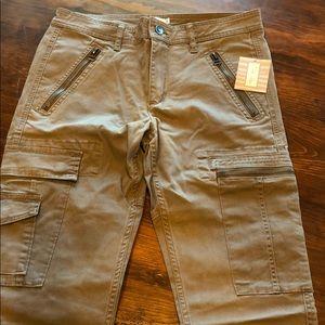 NWT Tasha Polizzi Brown Cargo Pants